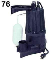 Zoeller Aqua Mate Sump Pump Model 76Part #:76-0001