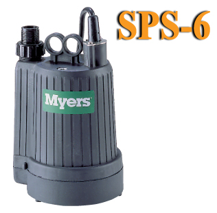 Myers SPS6 - 1/6 HP Dewatering Utility PumpPart #:SPS6