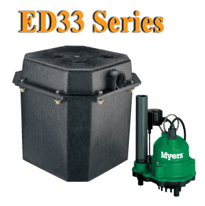 Myers ED33 Series - 1/3 HP Sink Pump SystemPart #:ED33