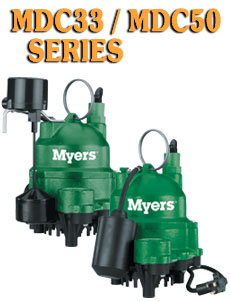 Myers MDC Series -Cast Iron Submersible Sump PumpsPart #:MDC