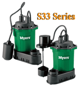 Myers S33 Series - 1/3 HP Residential Sump PumpsPart #:S33