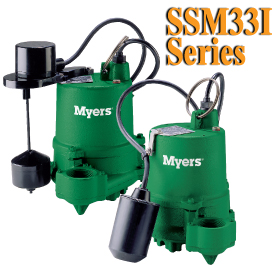 Myers SSM33I Series-1/3HP Cast Iron Submersible PumpPart #:SSM33I