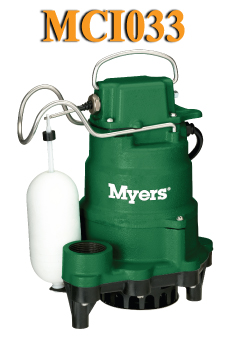 Myers MCI033 Series-Cast Iron Submersible Sump PumpPart #:MCI033