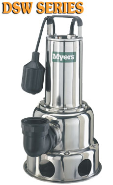 Myers DSW Series - Stainless Steel Sewage PumpsPart #:DSW