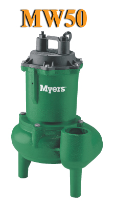Myers MW50 Series -  Light Commercial Sewage PumpPart #:MW50