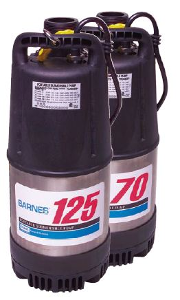 Barnes Portable Submersible Pump 125Part #:115125