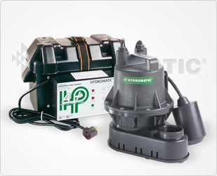 Hydromatic Battery Backup Sump Pump Power SupplyPart #:A+ (For use with B-A1 / BV-A1)