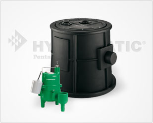 Hydromatic 1/2 HP Sewage Pump Package System Part #:HBB-SKV50