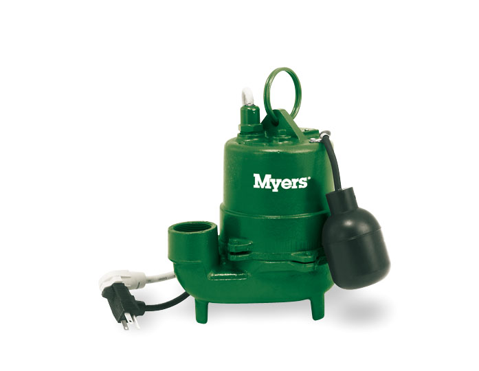 Myers High-Temperature 1/3 HP Cast Iron Effluent PumpPart #:S40HT-11P