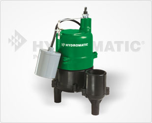 Hydromatic 4/10 HP Cast Iron/Thermoplastic Sewage Pump Part #:BV40AD1