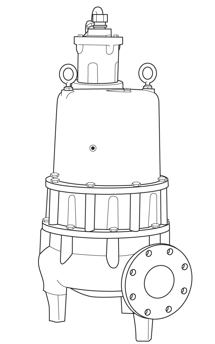 Hydromatic Submersible Sewage Pump, Recessed ImpellerPart #:S4LRC-3450 RPM