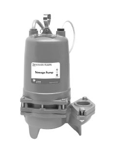 Goulds Submersible 2 In. Non-Clog Sewage Pumps - 50 Hz Part #:2WD55B6JA