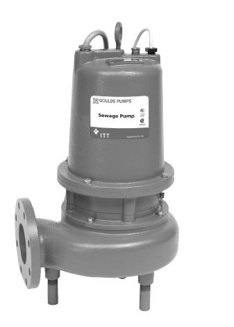 Goulds Submers. Sewage Pump w/ Dual Seal/Sensor - 5 Hz Part #:4SD56J6FA