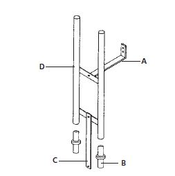Goulds Guide Rail Extension KitPart #:A10-2012 EXT
