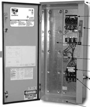 Goulds Variable & Fixed Speed Pump Controllers FloStandard Simplex Pump Control Panel FV2050130A4 for Sale